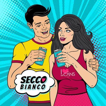 Secco Bianco - Wunschetikett online gestalten - ab 24 Dosen - pfandfrei