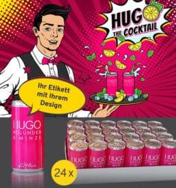 Hugo - Wunschetikett online gestalten - ab 24 Dosen - pfandfrei